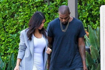 Kanye West Kim Kardashian and Kanye West Head to the Office