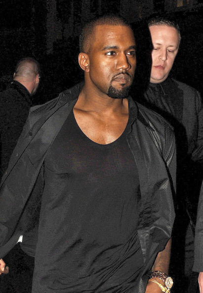 Kanye West - Kanye And Kim Out For Dinner In London