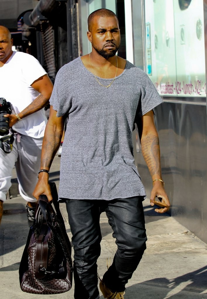 Forget Carrie Bradshaw, It's All About Kanye West's Name Plate Necklace