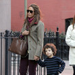 Kara Young Kara Young And Son Out Shopping In New York