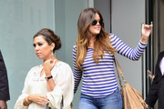 TV personality Kourtney Kardashian arrived at the Gansevoort hotel in New York City, New York on April 23, 2012 with her son Mason. After a while in the hotel Kourtney left the hotel with her sister Khloe Kardashian followed by her mom Kris Jenner, sister Kim and brother Rob Kardashian.