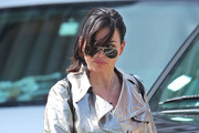Actress Karen Duffy seen leaving the Morandi Restaurant after lunch with friends in New York City, New York on May 1, 2012.