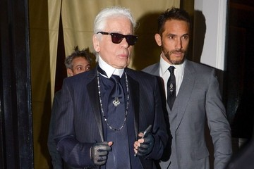 Karl Lagerfeld Karl Lagerfeld Out and About in NYC