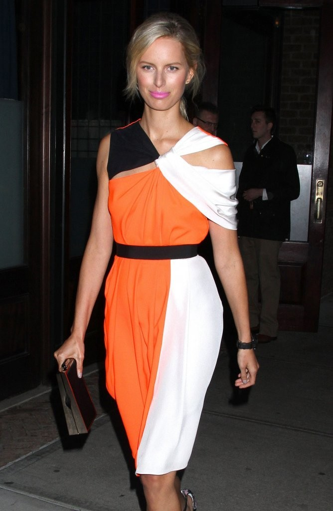 Karolina Kurkova Leaving The Greenwich Hotel