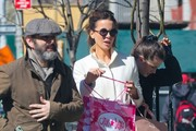 Former couple Kate Beckinsale and Michael Sheen take their daughter Lily Mo Sheen shopping in New York City, New York on April 5, 2016.