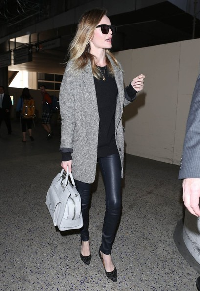 'Movie 43' actress Kate Bosworth arriving on a flight at LAX airport in Los Angeles, California on March 22, 2013.