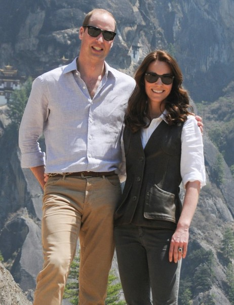 Prince William and Kate Middleton Go on a Hike in Bhutan