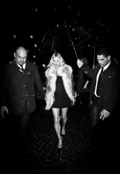 Kate Moss arriving at the Prada party during the Spring/Summer 2012 fashion week in Paris, France on January 24, 2012.