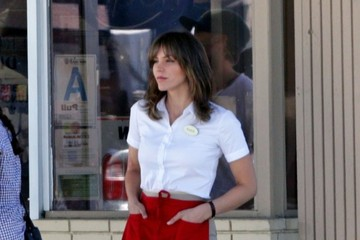 Katharine McPhee 'Scorpion' Films in LA