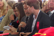 Katherine Schwarzenegger, oldest daughter of Maria Shriver and Arnold Schwarzenegger, graduates from USC in Los Angeles on May 11, 2012. Arnold sat in the front row for the ceremony and was joined by his children Patrick, Christina and Christopher. Katherine was also congratulated by actor Rob Lowe