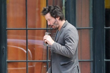 Keanu Reeves Keanu Reeves Walking Through The East Village