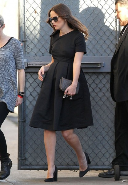 Keira Knightley Celebrities making an appearance on 'Jimmy Kimmel Live!' in Hollywood, California on February 12, 2015.
