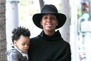 Kelly Rowland Goes for a Walk with Her Son