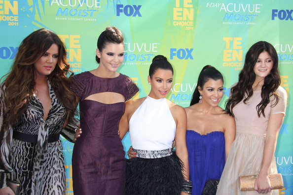 Kendall Jenner Celebrities attend the 2011 Teen Choice Awards at the Gibson Amphitheatre in Los Angeles.