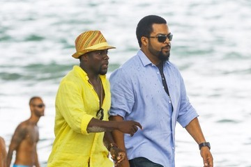 Kevin Hart Ice Cube 'Ride Along 2' Films in Miami