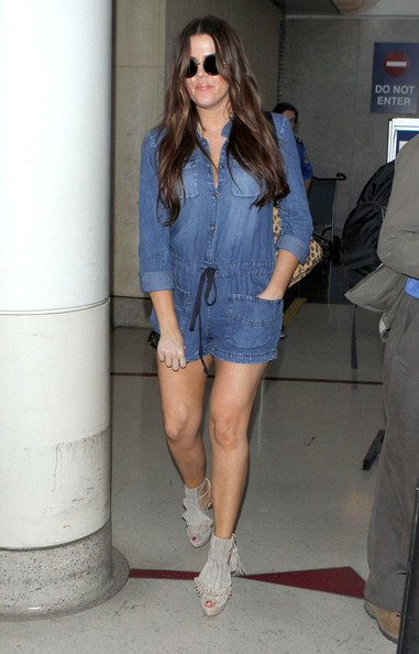 Khloe Kardashian Socialite Khloe Kardashian arriving on a flight at LAX airport in Los Angeles, CA.