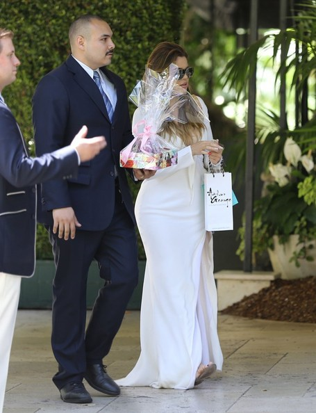Kim And Kourtney Kardashian Attend A Baby Shower