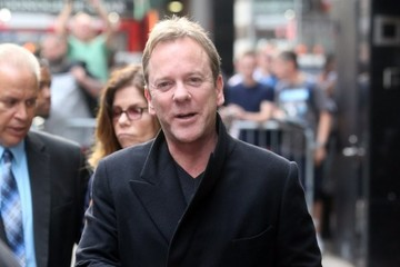 Kiefer Sutherland Celebrities Are Seen at 'Good Morning America'