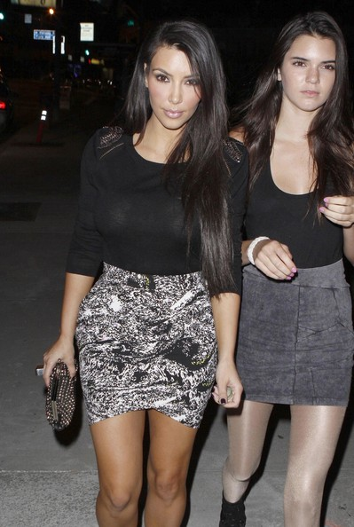 Kendall Jenner Socialite Kim Kardashian and her little sister Kendall Jenner seen arriving at the Boa Steakhouse Restaurant for a Father's Day dinner with the rest of the family.