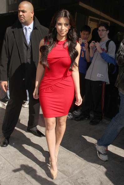 "Kim Kardashian Reality star Kim Kardashian and John Oates arrive at ""Good Day New York"" in New York City."