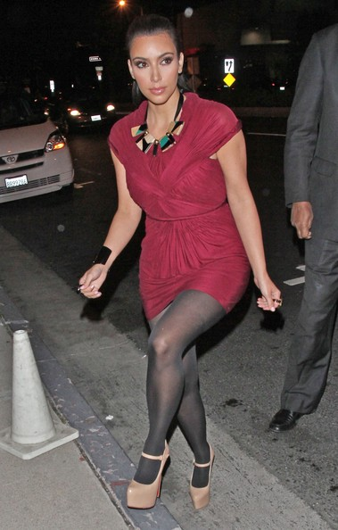 Kim Kardashian Kim Kardashian and boyfriend Kris Humphries are pictured leaving BOA steakhouse in Los Angeles, CA.