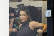 Kim Kardashian Leaves a Nail Salon in West Hollywood