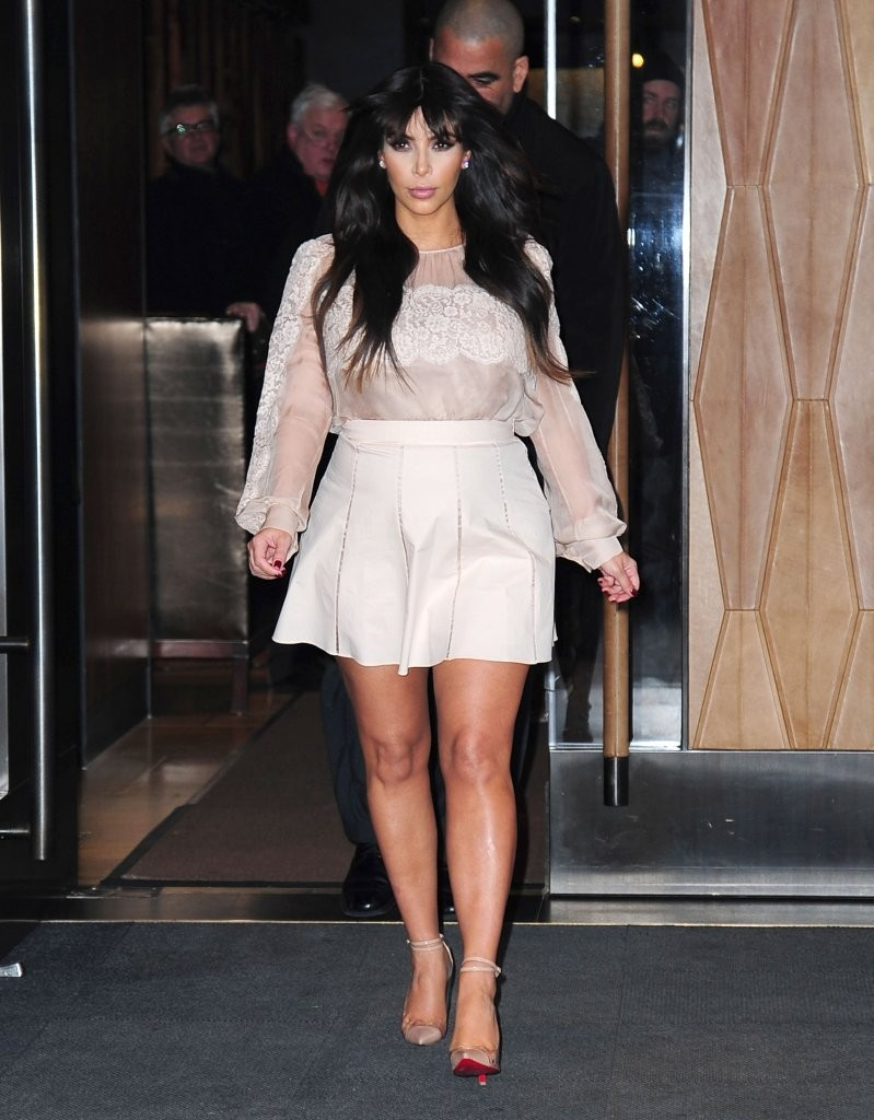 You Can't Even Tell Kim Kardashian's Pregnant in Her Latest Maternity Look on 'Good Morning America'