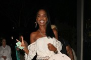 Kim Porter Dines at Mastro's in Beverly Hills