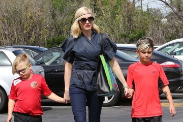 Kingston Rossdale Gwen Stefani Takes Her Boys Out For Lunch