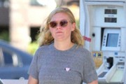 Kirsten Dunst Stops for Gas in Los Angeles