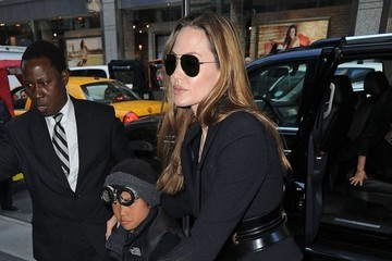 Knox Jolie-Pitt Angelina Jolie Takes Her Kids Shopping In NYC