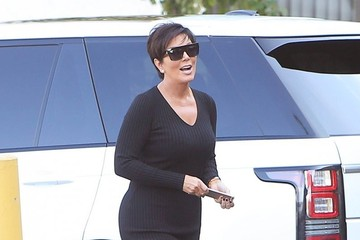 Kris Jenner Kim Kardashian and Kanye West Head to the Office