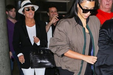 Kris Jenner Kanye West and Kim Kardashian Spotted at LAX