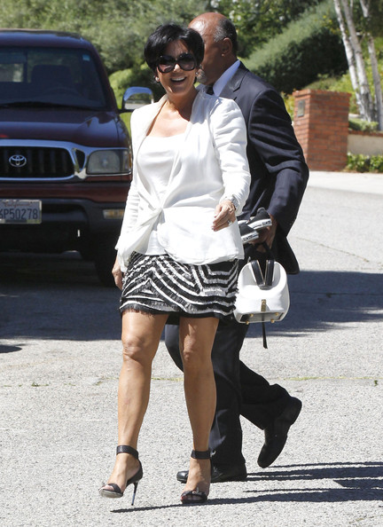 kris jenner leaving her house in los angeles in this photo kris jenner
