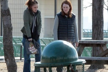 Kristen Stewart 'Still Alice' Films in New York City