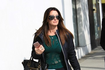Kyle Richards Kyle Richards Lunches With a Friend