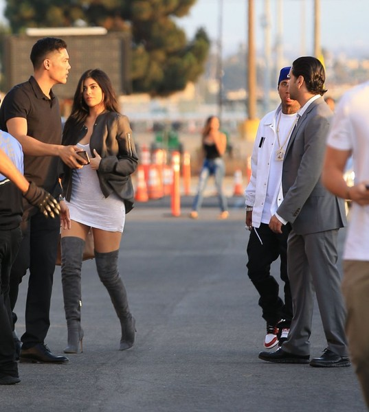b6ffce37650 Kylie Jenner   Tyga Attend Kanye West s  Famous  Visual Premiere ...