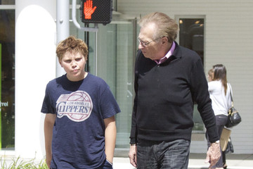 Larry King Cannon King Larry King And Son Out For Lunch In Beverly Hills