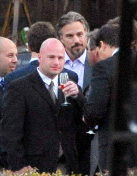 Larry Rudolph And Jason Trawick At A Wedding Reception