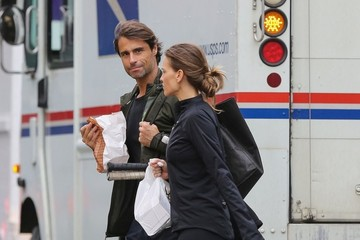 Laurent Fleury Hilary Swank and Her Boyfriend Play Tennis in NYC