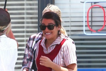 Lea Michele Hits the 'Sons of Anarchy' Set