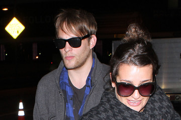 Theo Stockman Lea Michele And Theo Stockman Arriving On A Flight At LAX