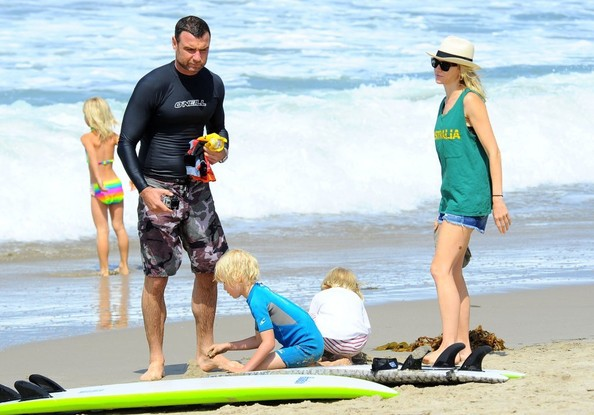 Liev Schreiber Spends Father's Day Surfing With His Family