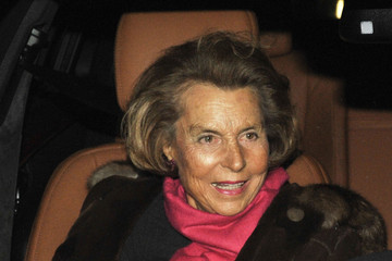 Liliane Bettencourt Celebrities Attending The Armani Fashion Show During Paris Fashion Week