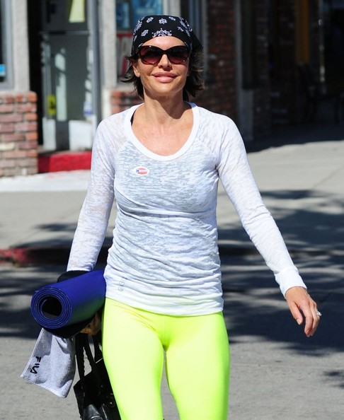 Lisa Rinna Hits Up A Yoga Cl