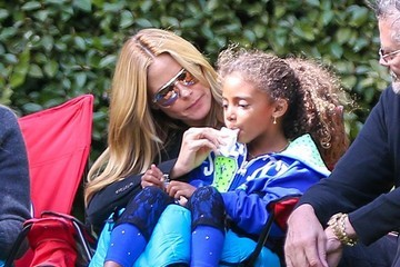Lou Samuel Heidi Klum Watches Her Kids Play Soccer