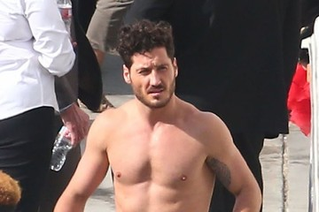 Maksim Chmerkovskiy Celebs Are Seen at the 'Dancing With the Stars' Studio