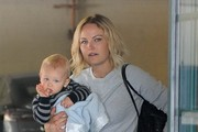 'Trophy Wife' star Malin Akerman takes her baby boy Sebastian to see his doctor in Beverly Hills, California on March 26, 2014.