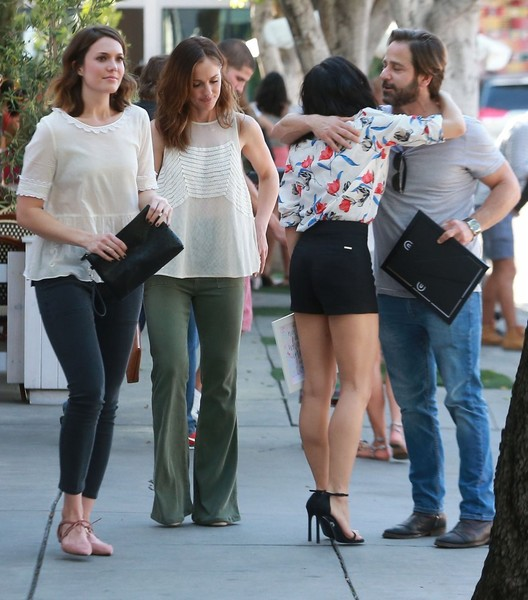 Celebrities At A Party In West Hollywood