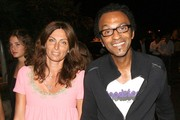 Singer Manu Katche and his wife Laurence Katche going to the V.I.P. Room in St. Tropez, France.